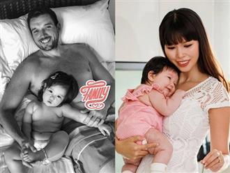 Hà Anh khoe ảnh chụp chồng và con đến 'Vogue phải gọi bặng cụ!'