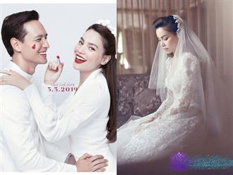 Hà Hồ tung ảnh diện váy cưới e ấp bên Kim Lý, sẽ làm đám cưới sau 1 tuần nữa?