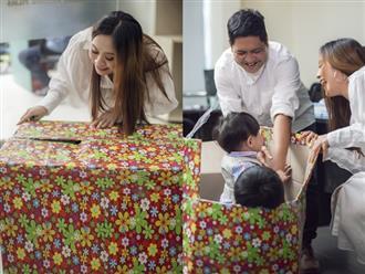 Hài hước cảnh Thanh Thúy 'đóng thùng' 2 con gửi tặng Đức Thịnh, bé Tết ngơ ngác không biết gì