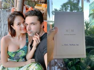 Hé lộ thiệp cưới và gia thế 'khủng' về chồng Tây sắp cưới của Phương Mai
