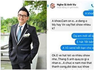 Hé lộ tin nhắn cuối cùng của nghệ sĩ Anh Vũ với đồng nghiệp trước khi qua đời