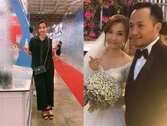 Hết bị đồn cưới chạy bầu lại soi bụng nhỏ to, vợ Đinh Tiến Đạt phản pháo: 'Con em rất khỏe và giờ đạp tung cả bụng'