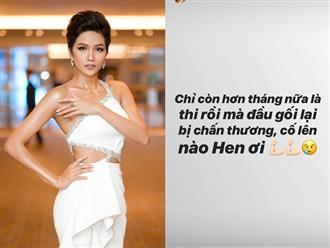 H'Hen Niê bất ngờ gặp chấn thương khi ngày lên đường dự thi Hoa hậu Hoàn vũ Thế giới gần kề