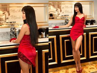 H'Hen Niê diện váy đỏ nổi bật tại Hoa hậu Hoàn vũ VN, mặc tin đồn mâu thuẫn với công ty quản lý