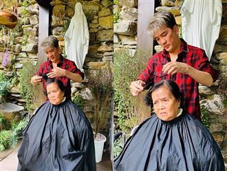 Đàm Vĩnh Hưng tự tay cắt tóc làm đẹp cho mẹ già, dân mạng xúc động