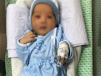 Hình ảnh mới nhất của em bé sơ sinh bị bỏ rơi ở hố ga giữa trời nắng 40 độ: Đôi mắt đã hé mở, vẫn phải điều trị viêm ruột