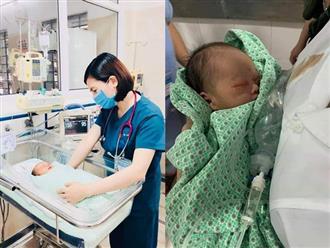 Hình ảnh mới nhất về bé trai sơ sinh bị bỏ rơi dưới cống 3 ngày giữa nắng nóng cao điểm ở Hà Nội