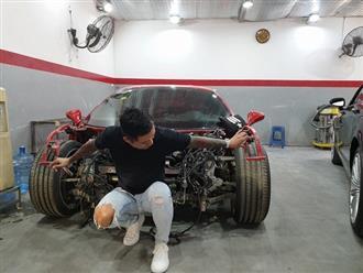 Hình ảnh mới nhất về siêu xe 16 tỷ của Tuấn Hưng sau hơn nửa năm gặp tai nạn kinh hoàng