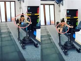 Hì hục tập gym, Hồ Ngọc Hà khiến dân tình 'đỏ mặt' vì vòng một chực trào khỏi áo