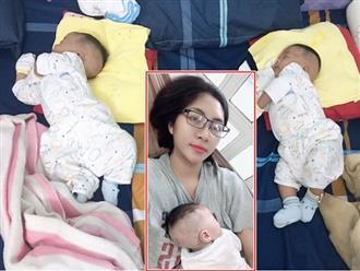 Hoa hậu Đặng Thu Thảo khoe ảnh 2 con song sinh bụ bẫm, đáng yêu hết nấc
