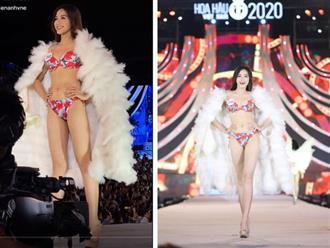 Cận body Hoa hậu Đỗ Thị Hà khi trình diễn bikini, nhìn đôi chân 'thần thánh' ai cũng xuýt xoa