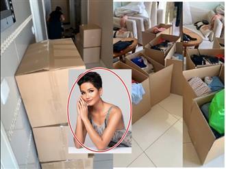 Hoa hậu H'Hen Niê dọn đồ rời khỏi chung cư cao cấp, hé lộ hình ảnh căn nhà mới thuê
