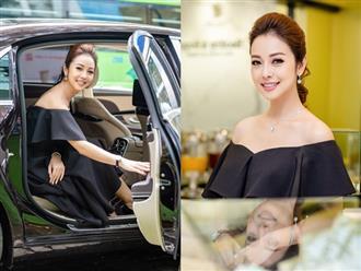 Hoa hậu Jennifer Phạm tái xuất khoe vai trần quyến rũ đi siêu xe 14 tỷ