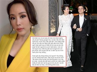 Ở tuổi 43, Hoa hậu Thu Hoài nói gì về tình yêu mà khiến chị em 'gật đầu lia lịa'?