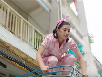 Hoa hậu Tiểu Vy nhảy lầu trong MV mới của Justatee