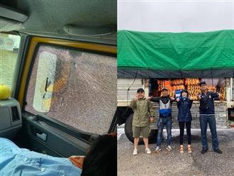 Hòa Minzy lên tiếng giải thích khi xe cứu trợ bị người dân hiểu lầm và ném đá vỡ kính