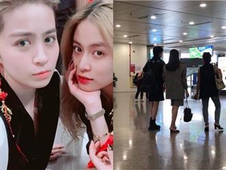 Hoàng Thuỳ Linh và Gil Lê lại bị bắt gặp khoác tay cực tình cảm tại sân bay