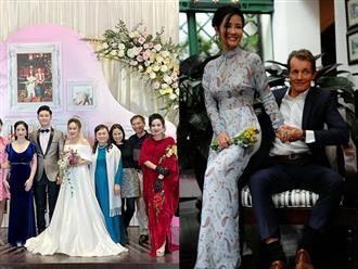 Hồng Nhung khoe ảnh 'tình bể bình' bên bạn trai Tây khi đến dự đám cưới con gái Thanh Lam