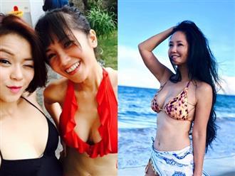 Làm mẹ đơn thân ở tuổi 48, Hồng Nhung diện bikini khoe ngực đầy, thả dáng nuột nà siêu gợi cảm