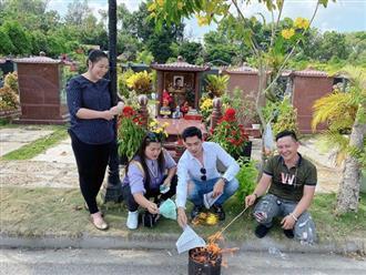 Hồng Vân, Minh Luân đến thăm mộ Anh Vũ, xúc động với lời nhắn gửi đến người đã mất