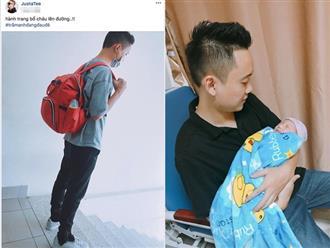 JustaTee hạnh phúc thông báo vợ - hot girl Trâm Anh đã sinh con
