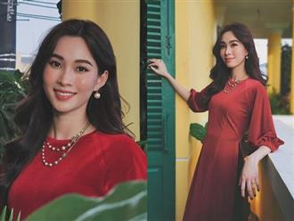 Khoe ảnh đẹp như tiên nữ, Hoa hậu Đặng Thu Thảo khéo phủ nhận tin đồn bầu bí