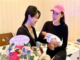 """Khoe ảnh tới thăm Diệp Lâm Anh, Kỳ Duyên than: """"Anh em chơi với nhau được 3 năm mà anh đã có 2 em bé"""""""