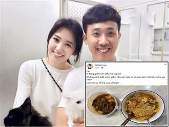 Khoe được chồng nấu ăn cho, Hari Won lại bị nhắc nhở vì mắc lỗi chính tả