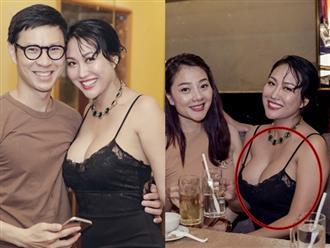 Khoe ngực ngoại cỡ muốn tuột khỏi váy, Phi Thanh Vân vô tư cười ngả ngớn bên trai đẹp