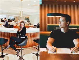 Không cần chụp ảnh chung, ai cũng biết Hà Hồ - Kim Lý bên nhau khi cùng checkin ở Hong Kong