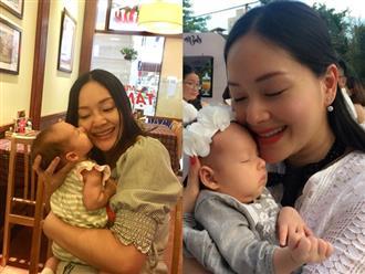 Không kiêng cữ, Lan Phương bế con gái mới sinh chưa đầy 1 tháng đi khắp nơi
