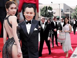 Không mặc hở từ trên xuống dưới như Ngọc Trinh, Lan Phương gây sốc khi đi chân trần trên thảm đỏ Cannes