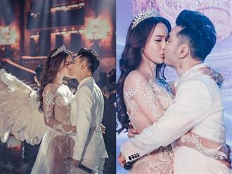 Kim Cương hạnh phúc khi được Ưng Hoàng Phúc 'khóa môi' nồng cháy trong đám cưới cổ tích