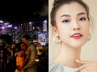 Kỷ niệm 2 năm hẹn hò, Á hậu Hoàng Oanh công khai gần rõ mặt bạn trai Tây