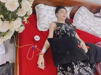 Ca sĩ Lâm Khánh Chi bị co giật vì uống thuốc giảm đau quá liều, môi tím lại