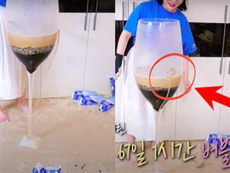 Làm trà sữa trân châu khổng lồ giống Bà Tân Vlog, Youtuber người Hàn lại có cái kết khiến dân mạng cười xỉu: Dọn nhà đến ốm luôn quá!