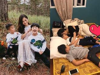 Làm việc gần 24 giờ mỗi ngày để kịp lo Tết, Lâm Vỹ Dạ quên mệt mỏi khi được con trai nói lời yêu thương