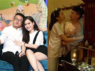 """Lâm Vỹ Dạ phản ứng hài hước khi xem cảnh nóng của chồng với Cao Thái Hà trong """"Tiếng sét trong mưa"""""""