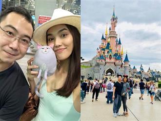 Lan Khuê e ấp bên chồng sắp cưới khi đi du lịch ở Pháp