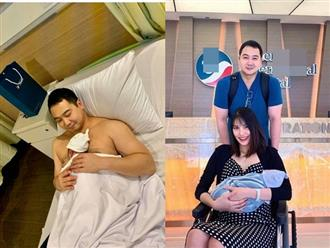 Lần đầu xuất hiện bên chồng con sau 3 ngày sinh, Lan Khuê khoe nhan sắc 'gái 1 con' quá xinh