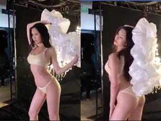 Lê Âu Ngân Anh tạo dáng nóng bỏng với bikini tại cuộc thi Miss Intercontinental 2018