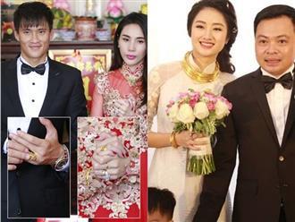 Phát thèm khi nhìn loạt sao Việt đeo vàng muốn 'gãy cổ' tại lễ cưới