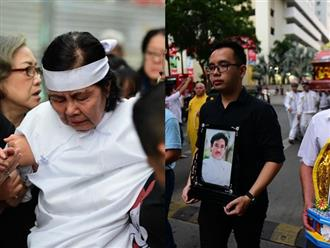 Lễ đưa tang nghệ sĩ Chánh Tín sáng nay: Vợ khóc ngất khi đưa chồng đi hỏa táng, con trai không về kịp
