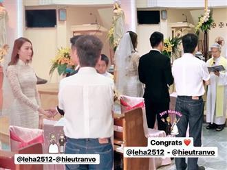 Lê Hà chính thức tổ chức lễ cưới tại quê nhà
