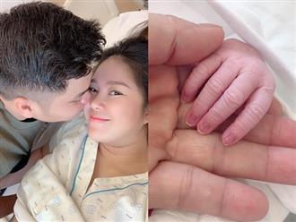 Lê Phương sinh con thứ 2 vào đúng ngày sinh nhật, lộ hình ảnh đầu tiên của em bé