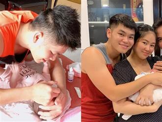 Mẹ ruột về quê, Lê Phương tặng chồng danh hiệu 'phó chủ tịch hội bỉm sữa' vì chăm con quá khéo