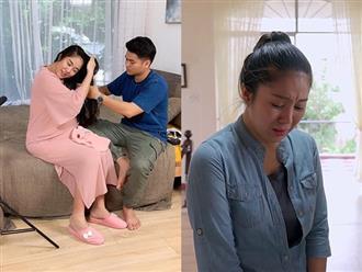 Được chồng cưng chiều hết mực, bà bầu Lê Phương vẫn khóc ròng 'cầu cứu' dân mạng