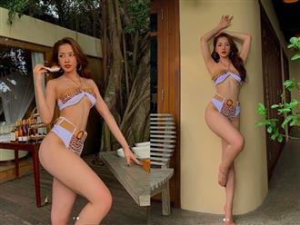 """Lộ ảnh hội bạn chụp vội thôi mà Chi Pu khiến MXH """"nóng"""" quá: Bikini táo bạo, vòng 1 căng tràn bốc lửa"""