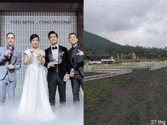 Lộ ảnh lễ cưới Công Phượng ở Nghệ An: Mượn sân bóng làm nơi đặt tiệc