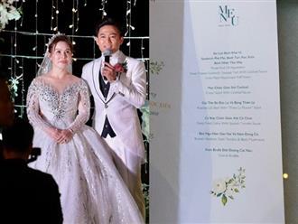 Lộ thực đơn thượng hạng trong hôn lễ của Quý Bình và vợ tổng giám đốc